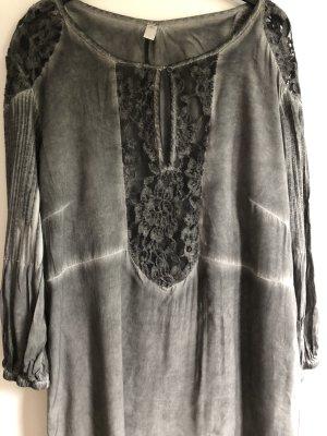 Culture Blouse Dress dark grey-light grey viscose