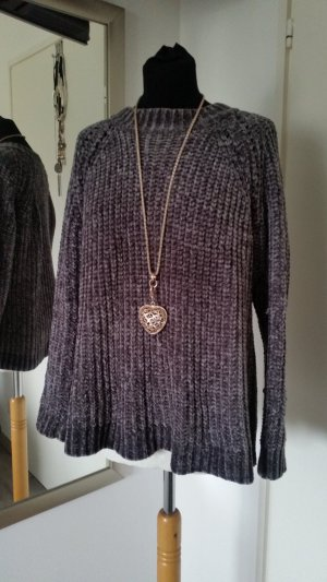 Culture Coarse Knitted Sweater grey mixture fibre