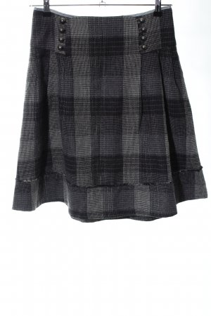 Culture Plaid Skirt black-light grey check pattern casual look