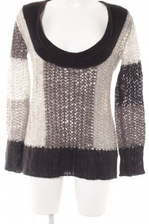 Culture Coarse Knitted Sweater striped pattern casual look