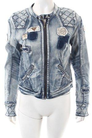Culture Jeansjacke mehrfarbig extravaganter Stil