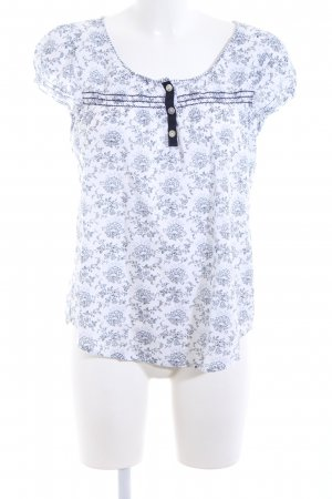 Culture Short Sleeved Blouse white-blue allover print casual look
