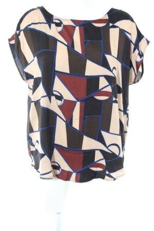 Culture Kurzarm-Bluse abstraktes Muster extravaganter Stil