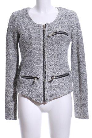 Culture Short Jacket black-white flecked business style