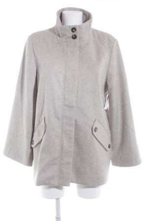 Culture Abrigo corto marrón grisáceo-crema moteado look casual