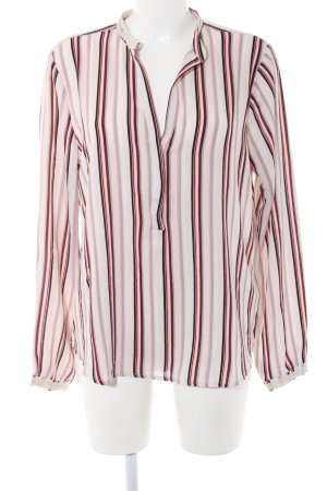 Culture Long Sleeve Blouse pink striped pattern business style