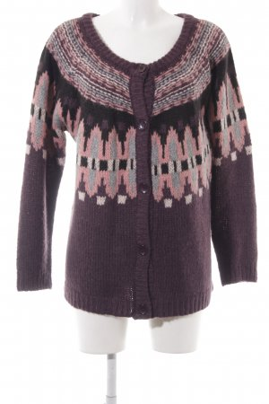 Culture Knitted Cardigan blackberry-red-pink ethnic pattern casual look