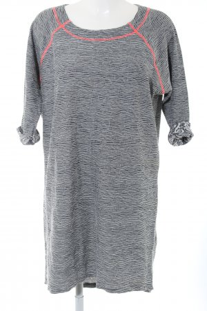 Culture Knitted Dress black-white striped pattern casual look