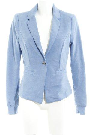 Culture Blazer de tela de sudadera azul celeste moteado look casual
