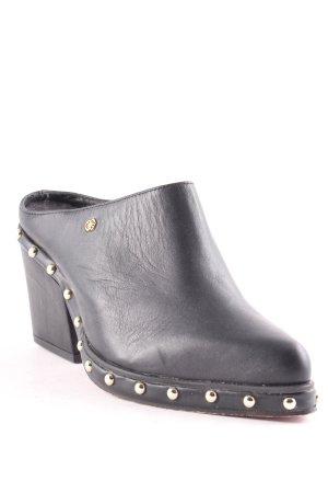 Cuplé Sandalo con tacco nero stile stravagante