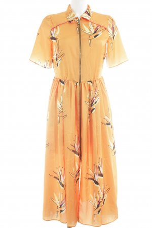 Cuplé Hemdblusenkleid florales Muster minimalistischer Stil