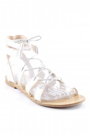 Cuplé Roman Sandals silver-colored-light brown wet-look