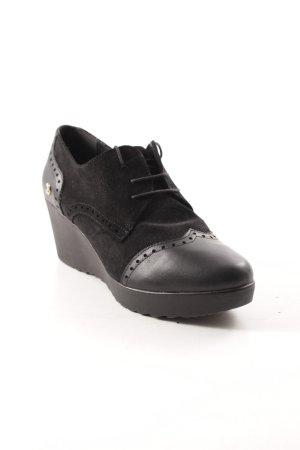 Cuplé Schnürschuhe schwarz extravaganter Stil