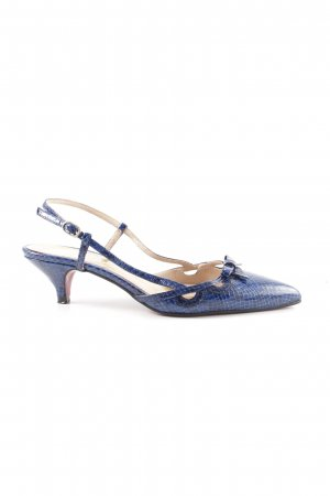Cuplé Slingback-Pumps blau Allover-Druck Business-Look