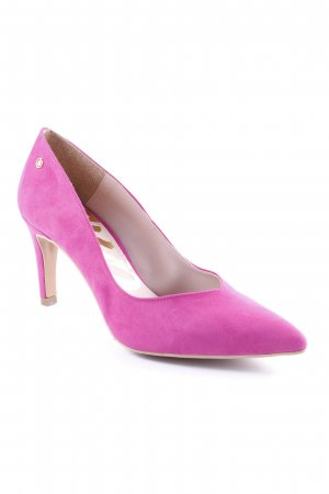 Cuplé Spitz-Pumps violett Casual-Look