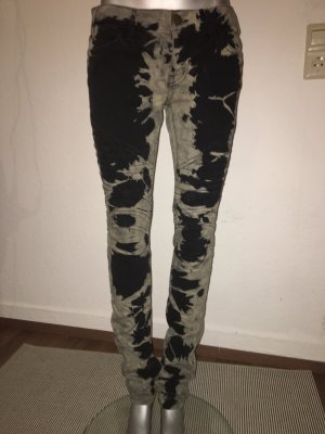 "Current Elliot Batik Jeans Gr. 27 black/sand Modell ""the Moto Skinny"""