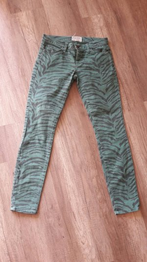 Current/Elliot Jeans Röhre Slim Fit Skinny Denim Animal Baltic Zebra 25