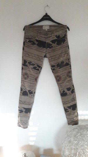 Current/Elliot Jeans Skinny Slim Fit Röhre Ikat Muster Destroyed Ripped Off 25