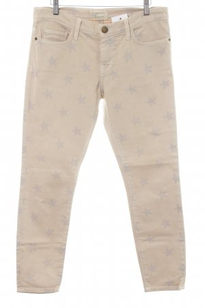 Current/elliott 7/8 Length Jeans cream-light grey star pattern casual look