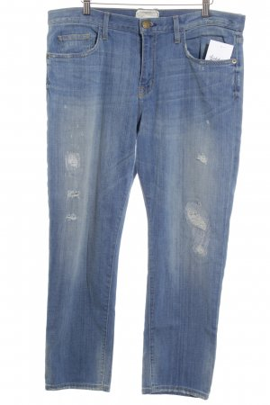 Current/elliott 7/8 Jeans stahlblau Boyfriend-Look