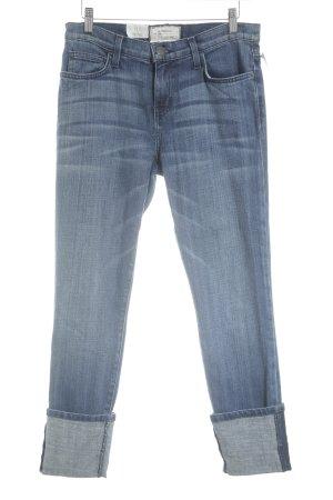 Current/elliott 7/8 Jeans stahlblau-dunkelblau Bleached-Optik