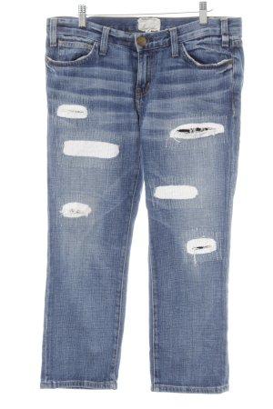 Current/elliott 7/8 Jeans weiß-blau Used-Optik