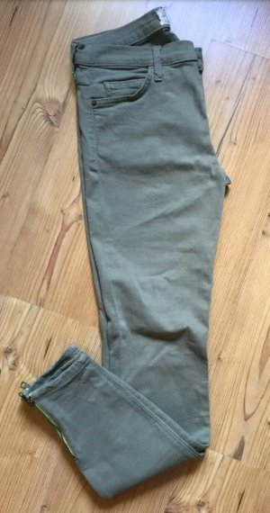 Current/elliott Drainpipe Trousers green grey