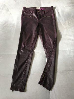 Current Elliott, beschichtete Jeans, sieht aus wie Leder. THE SOHO ZIP STILETTO