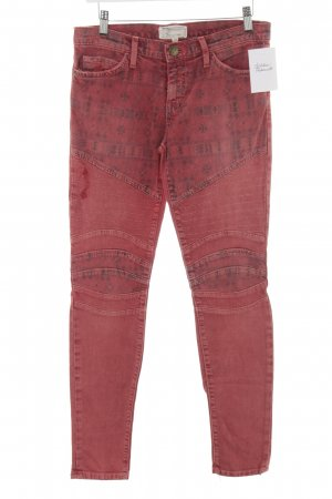 Current/elliott Jeans de moto rouge motif ethnique imprimé aztèque