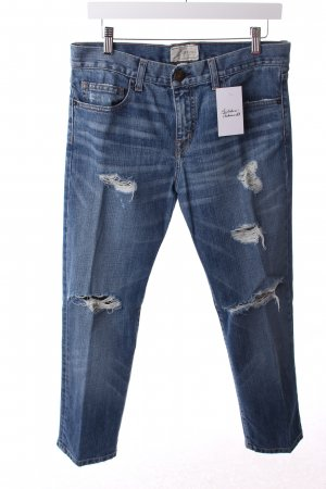 Current/elliott Boyfriendjeans blau Destroy-Optik
