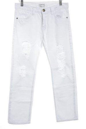 Current/elliott Jeans boyfriend blanc style déchiré