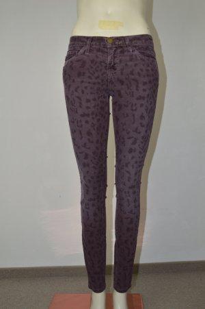 CURRENT/ELLIOTT Cordhose Gr. W25 Lila Damen Skinny Leopard Trousers