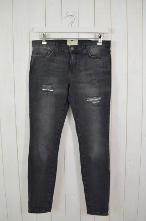CURRENT ELLIOTT Damen Jeans Denim Mod.The Ankle Skinny Cheville Grau Schwarz 29
