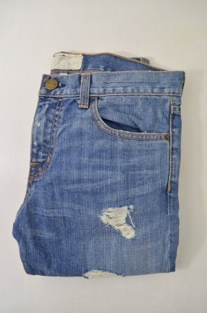 CURRENT ELLIOTT Damen Jeans Denim Mod. The Boyfriend Used Look Blau Gr.25