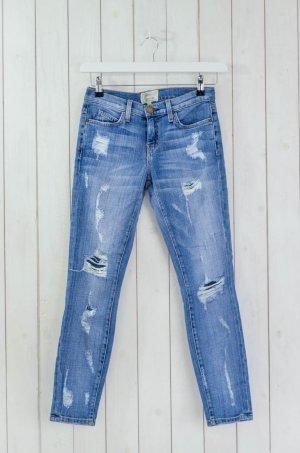 CURRENT ELLIOTT Damen Jeans Mod.The Stiletto Shredded Blau Vintage Stretch Gr.25