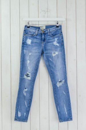 CURRENT ELLIOTT Damen Jeans Mod.The Stiletto Shredded Blau Vintage Stretch Gr.25