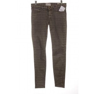 Current/elliott pantalón de cintura baja gris-color oro look casual