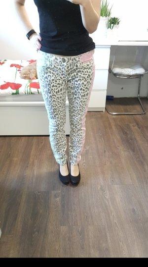 Current Elliott Jeans 27 Ankle Skinny Leo Multi Airbrush schwarz/weiß/rot/grün