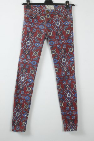 Current Elliott Jeans Gr. 24 rot blau Muster | Modell: The Ankle Skinny