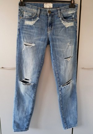 Current Elliott Jeans The Stiletto Used & Destroyed Cropped skinny W27