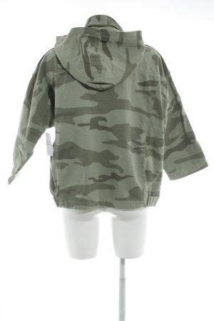 Current/elliott Jeansjacke khaki-dunkelgrün Camouflagemuster Military-Look