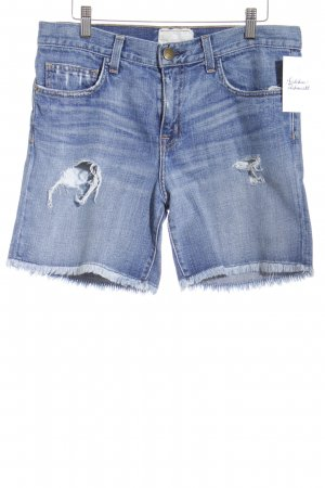 Current/elliott Jeansshorts hellblau-stahlblau Destroy-Optik