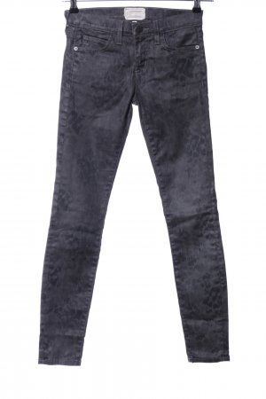 Current/elliott Drainpipe Trousers light grey-black allover print casual look