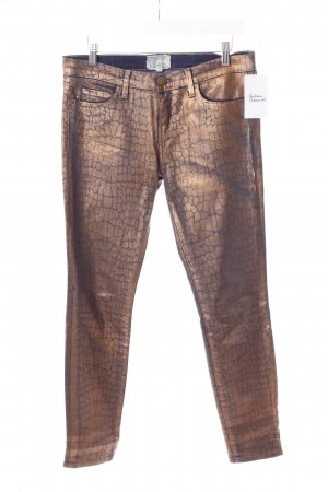 Current/elliott Röhrenjeans bronzefarben-dunkelblau Metallic-Optik