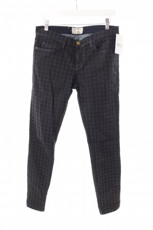 Current/elliott Tube Jeans dark blue houndstooth pattern
