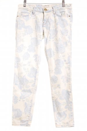 Current/elliott Skinny Jeans flower pattern romantic style