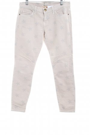 Current/elliott Skinny Jeans creme Motivdruck Vintage-Look