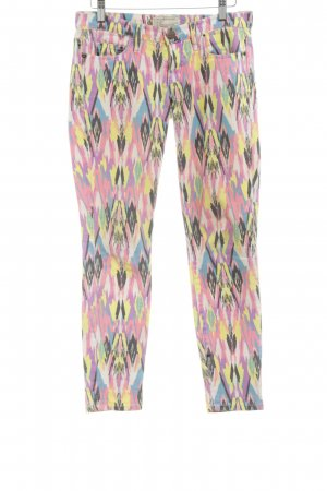Current/elliott Skinny Jeans abstract pattern extravagant style