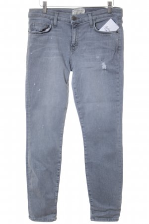 Current/elliott Skinny Jeans grau-silberfarben Casual-Look