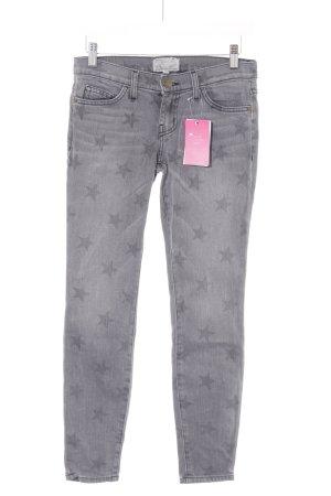 Current/elliott Skinny Jeans grau Sternenmuster